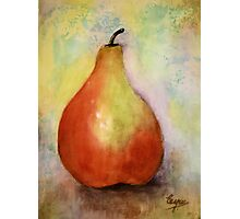 A PEAR- Watercolor painting Photographic Print