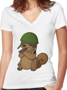squirrel II Women's Fitted V-Neck T-Shirt