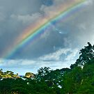Rainbow over Castries by Roland Pozo
