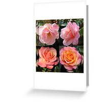 Admiring Their Reflections - Rose Beauties in Mirrored Frame Greeting Card