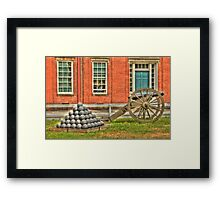 BOOOOOOM    Cannon in the Courtyard Framed Print
