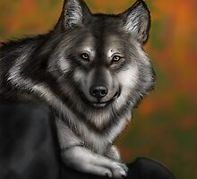 Timber Wolf - Autumnal  by SimonMeehan