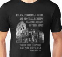 Films, football, beer, George Orwell 1984 Roman Coliseum Unisex T-Shirt