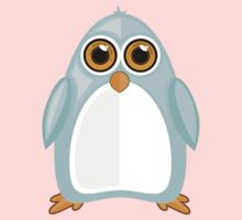 Baby Blue Penguin One Piece - Short Sleeve