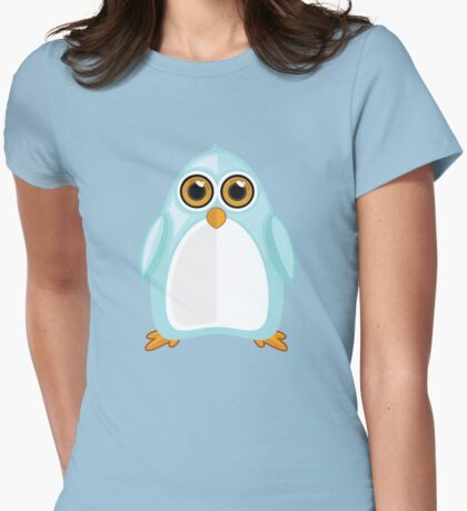 Baby Blue Penguin Womens Fitted T-Shirt