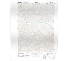 USGS Topo Map Oregon Culp Creek 20110824 TM Poster