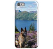 A walk through the heather on Walla Crag Derwentwater English Lake District iPhone Case/Skin