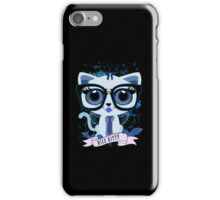 Nice Kitty - Black & Blue iPhone Case/Skin