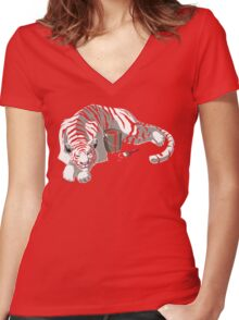 Changing Stripes Women's Fitted V-Neck T-Shirt
