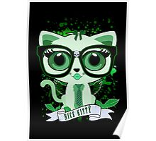 Nice Kitty - Black & Green Poster