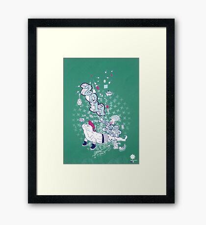 Neo/Neo//Now///Teal//Art Framed Print