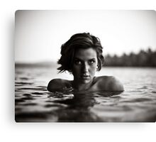 Shawna, Lake Saint George, Maine Canvas Print