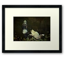 """Playing Butterflies in the Garden..."" Framed Print"