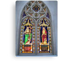 Stain glass window in NY Canvas Print