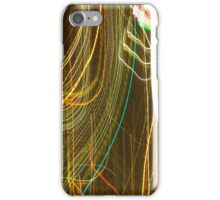Rainbow Abstract curves light painting iPhone Case/Skin
