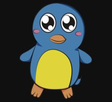 Cute Blue Penguin Kids Clothes