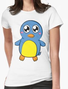 Cute Blue Penguin Womens Fitted T-Shirt