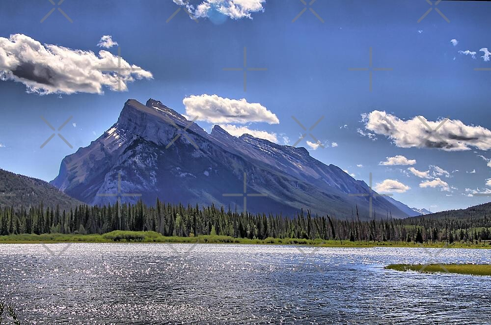 Vermillion Lakes & Mount Rundle by Vickie Emms