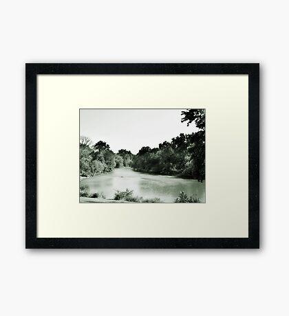 Des Plaines River, Riverside, IL Framed Print