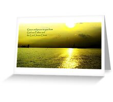 Sunset Labradore, Grace n Peace Greeting Card