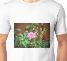 Pink Rose With Buds Unisex T-Shirt