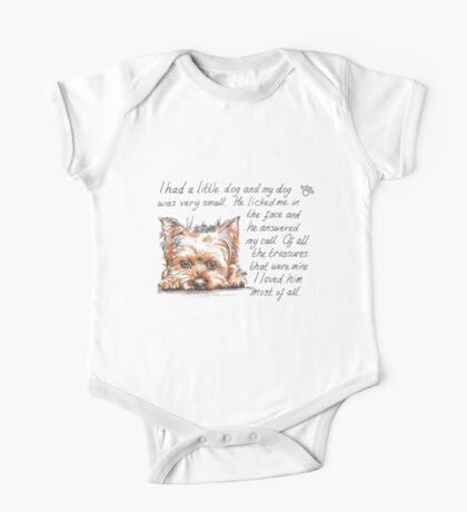 I had a little...Yorkshire Terrier One Piece - Short Sleeve