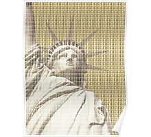 Liberty on Gold Poster