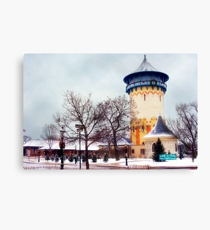 Winter Water Tower, Riverside, Illinois Canvas Print
