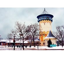 Winter Water Tower, Riverside, Illinois Photographic Print
