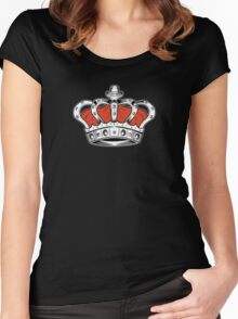 Crown - Orange 2 Women's Fitted Scoop T-Shirt