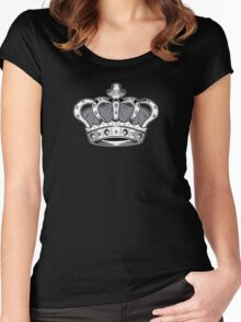 Crown - Grey 2 Women's Fitted Scoop T-Shirt