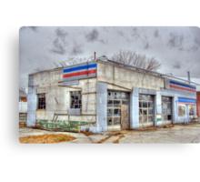 Garage in ruins Canvas Print