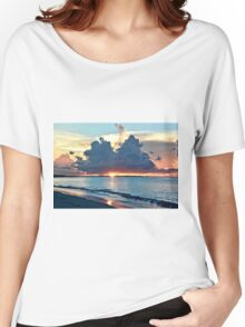 Caribbean Turks and Caicos Grace Bay Sunset Women's Relaxed Fit T-Shirt