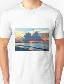 Caribbean Turks and Caicos Grace Bay Sunset Unisex T-Shirt