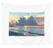 Caribbean Turks and Caicos Grace Bay Sunset Wall Tapestry