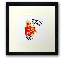 Jarryd Hayne wh Framed Print