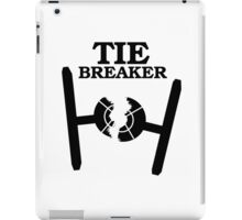 TIE BREAKER black iPad Case/Skin