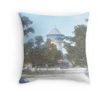Summer Water Tower, Riverside, Illinois Throw Pillow