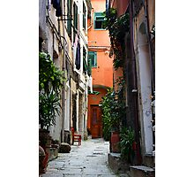 The Chair - Vernazza, Cinque Terre, Italy Photographic Print