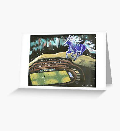 BLUE PONY CORRAL, HAVRE, MONTANA Greeting Card