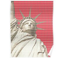Liberty on Red Poster