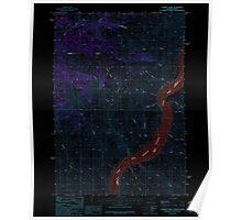 USGS Topo Map Oregon Connor Creek 279426 1987 24000 Inverted Poster