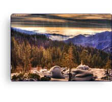 Sun Setting, view from Beetle Rock Canvas Print