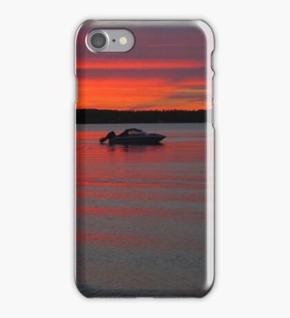 Summer Sunset on Traverse Bay iPhone Case/Skin