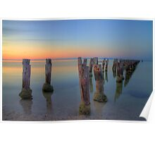 Dusk at Clifton Springs Poster