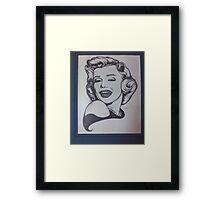 MARILYN MONROE BY JACKIE SHEARER Framed Print