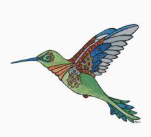 Clockwork Hummingbird One Piece - Long Sleeve
