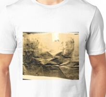 drawing on brown paper, different lighting Unisex T-Shirt