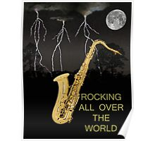 SAX ROCKING ALL OVER THE WORLD Poster