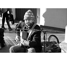 Busking Photographic Print